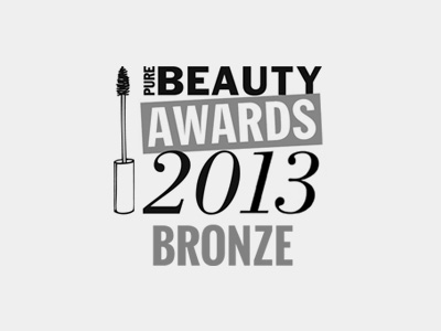 Bronze Winner Pure Beauty Awards 2013